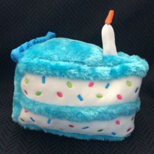 Birthday cake dog toy for boys